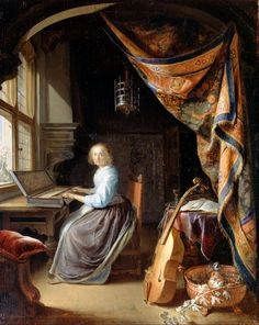 Gerrit Dou, A Woman Playing a Clavichord, c. 1665, Dulwich Picture Gallery, South London