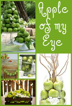 Love the apples as label holders    adorable apple party