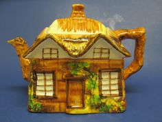 "Vintage 1945 Price Kensington ""Ye Old Cottage"" Cottageware TEAPOT ENGLAND ~ Mint picclick.com"