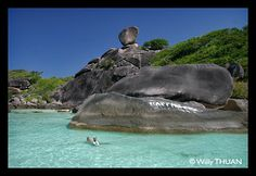 The famous Donald Duck rock in the Similans - http://www.phuket101.net/2011/01/similan-islands-thailand.html