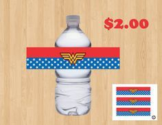 Check out this item in my Etsy shop https://www.etsy.com/listing/471073700/wonder-woman-birthday-party-water-drink