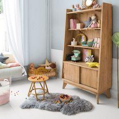 Peau de mouton wallace gris - tapis mobilier - bonton 2