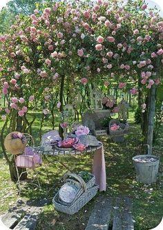 Romantische tuin!! Prachtig
