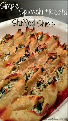 spinach ricotta shells ** YUM!**