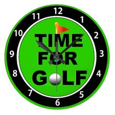 Time for Golf Clock Golf 4, Pallet Projects, Clock, Gifts, Printables, Craft Ideas, Design, Watch, Favors