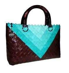 Leather breeze luxury hard paper top handle bag  Made by Gitart Gita Kolačkovská