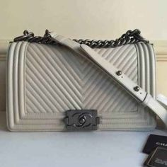 Chanel Le boy medium Top grade bag same as authentic Chanel medium le boy Cream cold Silver hardware Comes with dust bag, serial number, auth. cards ️️$500 Bags Shoulder Bags