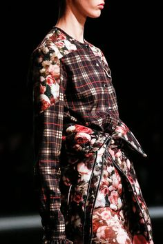 Tartan #Plaid Pattern #Print #Fashion #Trend for Fall Winter 2013  Givenchy F/W 2013 #Grunge