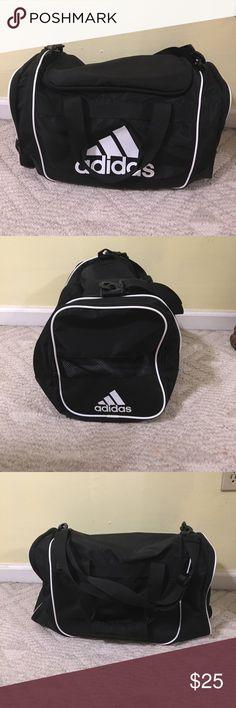 Black Adidas Medium Duffel Bag Like new black adidas duffel bag. Size medium. adidas Bags Crossbody Bags