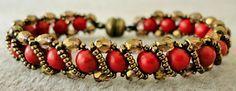 Linda's Crafty Inspirations: Bracelet of the Day: Renaissance Bracelet