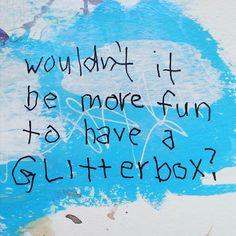 Random thought for artistic cat lovers. #randomthought #glitter