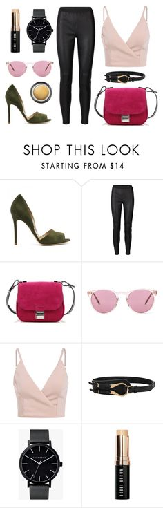 """Pink pink pink"" by bacallera ❤ liked on Polyvore featuring Proenza Schouler, Oliver Peoples, The Horse, Bobbi Brown Cosmetics and Giorgio Armani"