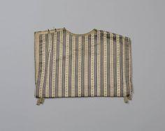 beuk van gestreept satinet, Walcheren, omstreeks 1800, gevoerd met beige linnen. #Zeeland #Walcheren