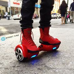 Red on red #streetsaw #hoverboard in the #city  Hashtag yours!