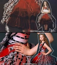 Alice in Wonderland costume designer by Colleen Atwood. Love in red!