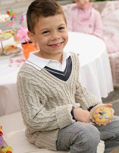 boys knit cable sweater contrast color trim