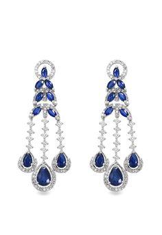 Blue Sapphire and Diamond Earrings | ... here: Effy Jewelry Gemma Blue Sapphire and Diamond Earrings, 5.33 TCW