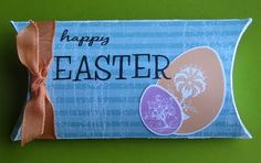 Scrap Savvy Creations: Happy Easter! Treat Holder, Pillow Box, Chocolate Box, Happy Easter, Easter Eggs, Lunch Box, Paper Crafts, Scrapbook, Cards