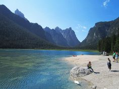 A comfortable walking tour leads us around the emerald Lake Dobbiaco along an interesting nature trail. Emerald Lake, See It, Walking Tour, Travelling, Tourism, Trips, To Go, Hiking, Vacation