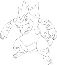 Click to see printable version of Feraligatr Pokemon Coloring page Free Coloring Pages, Printable Coloring Pages, Pokemon Sleeves, Pokemon Coloring Sheets, Easy Drawings, Projects To Try, Sketches, Cartoon, Pokemon Team