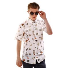 Limited edition shirt created by www.shirtwiseshop.com #limitededition #limitedserie #shirt #roundcollar #summer #printed #cotton #carnaval #tropical  #maracas #ukulele #print #prints #shirtwise #shirtwiseshop