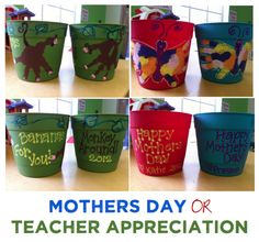painted handprint mothers day | Handprint Art for Teacher Appreciation or Mother's Day Gifts