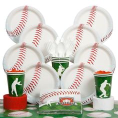Baseball Party Deluxe Kit - Baseball Party Supplies