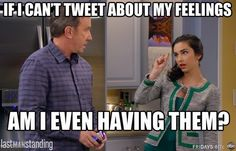 Mandy wonders, if she can't tweet about her feelings if she's really even experiencing them, on Last Man Standing. #hilarious #best