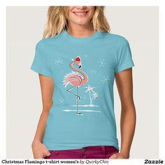 Christmas Flamingo t-shirt women's
