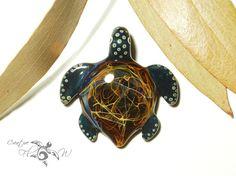 Glass Pendant - Rainbow Galaxy Turtle Pendant - Glass Art - Blown Glass Art - Handmade - Unique Jewelry - Boro Pendant - Universe Filament