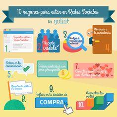 10 razones para estar en Redes Sociales #infografia #infographic #socialmedia | TICs y Formación