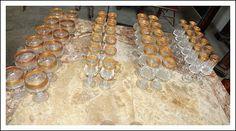 Servizio bicchieri da 12 cristallo oro zecchino