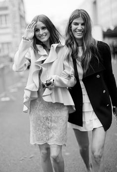 Olivia Palermo & Bianca Brandolini