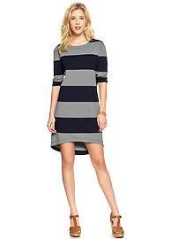 Rugby-stripe ponte dress
