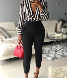 Stunning Work Outfits Ideas To Wear This The 8 Best Tips for Perfecting Your Classy Outfits Summer Work Outfits, Casual Work Outfits, Business Casual Outfits, Mode Outfits, Sexy Work Outfit, Dressy Fall Outfits, Summer Business Attire, Outfit With Black Pants, Work Outfit 2018