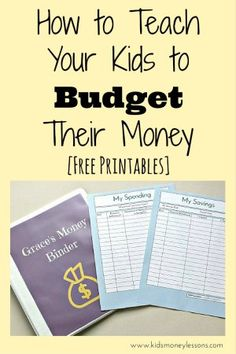 How to Teach Your Kids to Budget Their Money