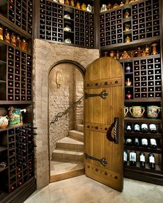 Wine Rooms traditional-wine-cellar