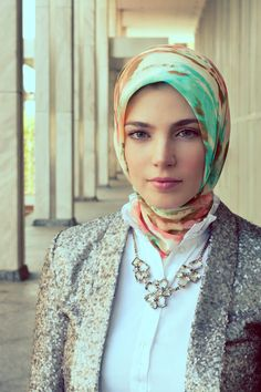 Haute Hijab: Spring/Summer 2013 Line: A Vintage Love Affair  ======  I think this is a good mix of bling for outside without bringing too much attention to ze booby area :p