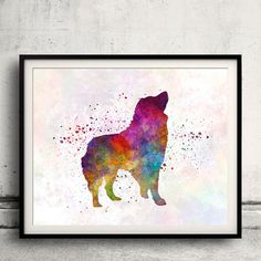 Romanian Carpathian Shepherd Dog 01 in by AnimalArtPosters on Etsy