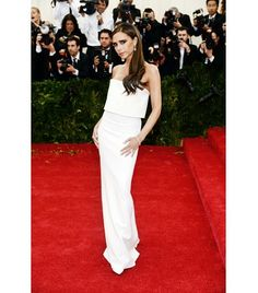 Just a Darling Life: Best Dressed: The Met Gala 2014 - Fashion designer Victoria Beckham looked ravishing as always in a white column dress from her very own collection, Victoria Beckham.