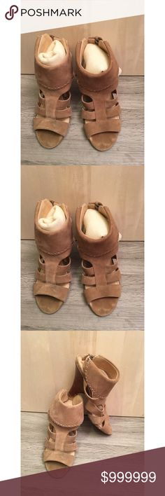 NIne West bootie style sandal NIne West bootie style sandal with suede leather upper, style is called wn theviben. Excellent condition with 3 7/8 heel. Nine West Shoes Sandals