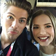Amadeus Serafini and Willa Fitzgerald. #Scream MTV