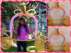Princess balloon, Princess balloon party photo frame, Princess theme, Princess balloons