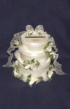 Calla Lilly Wedding Cake Card/Money Holder