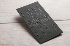 Typographic Visiting Card Template | RockDesign Luxury Business Card Printing
