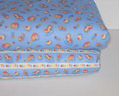 Boppy Cover, Crib Sheet, Bassinet Sheet, Changing Pad Cover, Baby Bandanna Bib, Nursery Door Silencer, Blue, Flannel Knit, Custom Made