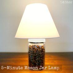 Einmachglas Lampe