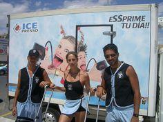 Ice Presso Saimaza sampling de producto #Icepresso #firstgroup #sampling #azafatas #paracaidista #kitesurf #carritos