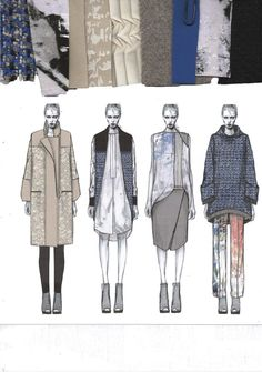 Nice illustration and fabric layout //issuu - westminsterfashion amy dee portfolio by westminsterfashion Portfolio Design Layouts, Fashion Portfolio Layout, Fashion Design Sketchbook, Design Portfolios, Art Portfolio, Layout Design, Diy Design, Illustration Mode, Fashion Illustration Sketches
