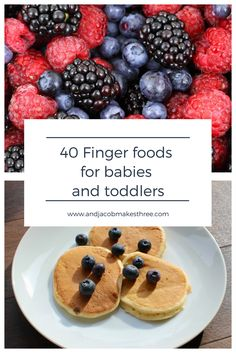 Stuck for finger food ideas for your baby or toddler? Check out this list of 40 foods that are perfect for little fingers